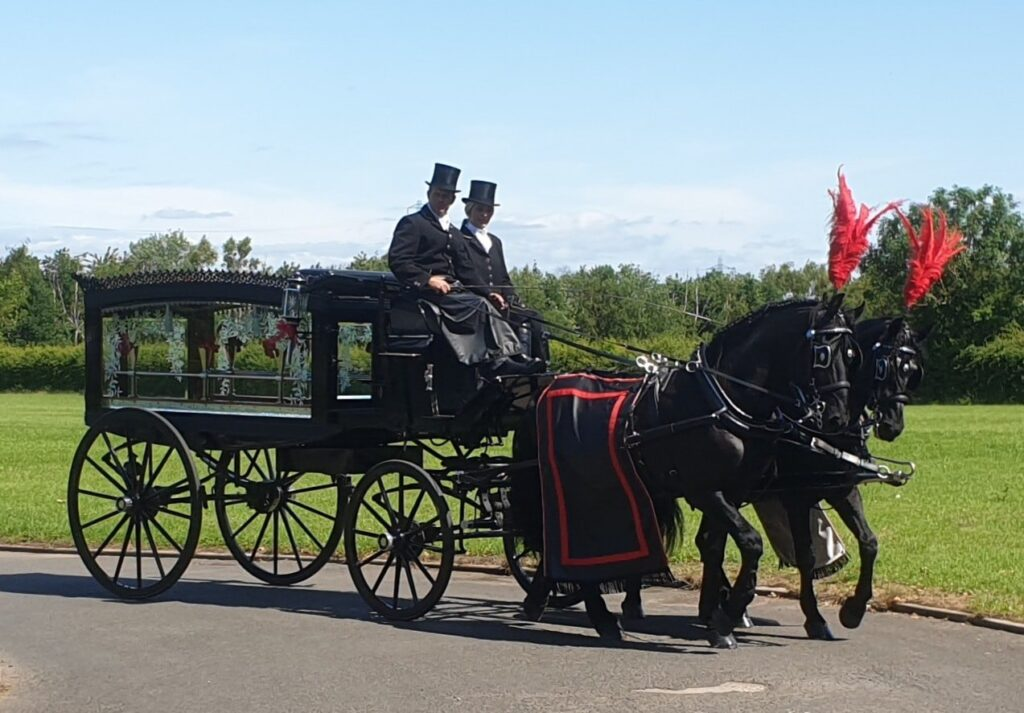 Traditional Horse Drawn Hearse